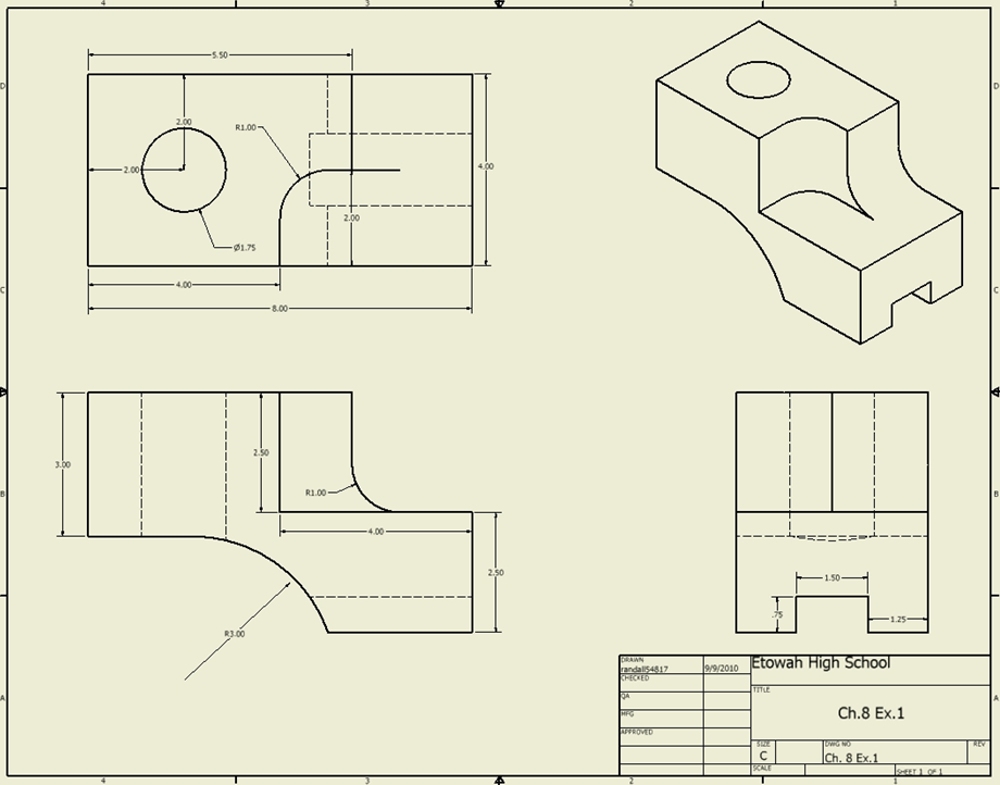 Isometric View Drawing in Multi-view Drawings